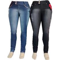 Calça Jeans Plus Size *atacado* 5 Peças Tam. 46 Ao 54 *