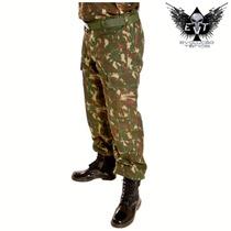 Calça Tática Camuflada Militar Padrão Exército Brasileiro