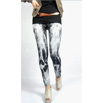 Legging Importada - Estampa Jeans Destroyed - Pronta Entrega