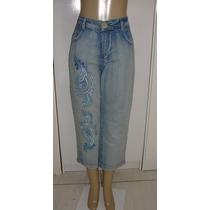 Calça Jeans Capri Fem.tamanho 54 C/ Strech Semi Nova