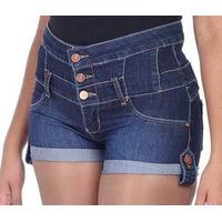 Shorts Feminino Cintura Alta Sawary Pronta Entrega