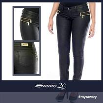 Saway Calça Jeans Resinada Levanta Bumbum Cintura Média