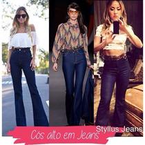 Calças Jeans Cos Alto Skinny E Flare