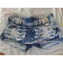 Short Saia Jeans Desfiado