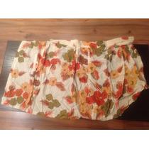 Saia Envelope Viscose Estampa De Flores N. 38