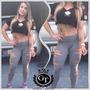 Calça Legging Rasgada/giletada Labelamafia Fitness Academia