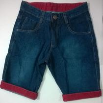 Bermuda Jeans Masculina Oslen Barra Colorida