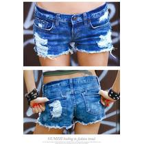 Short Jeans Cintura Baixa Importado Pronta Entrega No Brasil