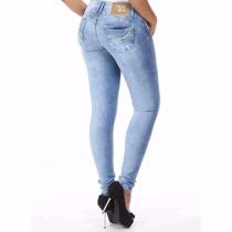 Sawary Calça Jeans Levanta E Modela Bumbum Cós Largo