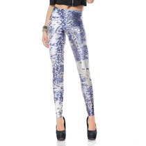 Legging Importada- Estampa Black Milk- Middle Earth Map Blue