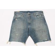 Polo Ralph Lauren Azul Cut Off Distress Homens Jeans