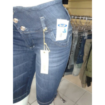 Bermuda Jeans Com Lycra Ri19