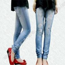 Calça Legging Jeans - Jegging - Imita Jeans - Tamanho Único!