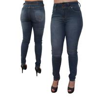 Calça Feminina Jeans Plus Size Cintura Alta Tamanho Grande