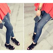 Calça Legging Jeans - Jegging - Imita Jeans