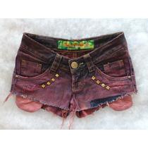 Short Jeans 34 Estilizado Modelo Rasgado Lovely Lolla