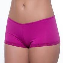 Kit C/20 Cueca Boxer Calcinha Microfibra Feminina S/ Costur