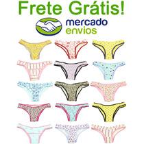 Calcinhas De Cotton Atacado Revenda Kit C/ 20 - Frete Grátis