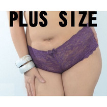 Plus Size ! Shortinho Caleçon De Renda Kit Com 10 Unidades