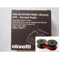 Fitas De Nylon Bicolor P/ Calculadoras Olivetti Caixa Com 12