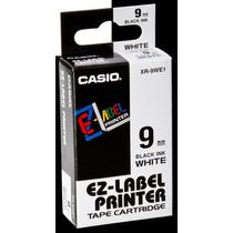 Fita Para Etiquetadora Casio Xr-9we1 Original - 9mm