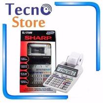 Calculadora Sharp El-1750v C/ Bobina Imprime 2 Cores 110v