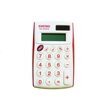 Calculadora Sheng Ka-6202a 8 Digitos Cor: Vermelho Na Caixa