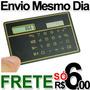 Mini Calculadora Tam. Cartão Crédito, Fina, Solar, Carteira