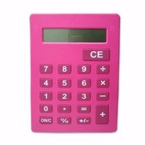 Calculadora Grande Gigante Idoso Deficientes Visuais Rosa