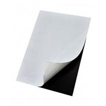 05 Folhas Manta Magnética Imã Adesivada Tamanho A4 R$ 10,00