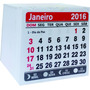 Mini Calendário Bloco Para Ímã 2016- 2x0 1000 Unid.