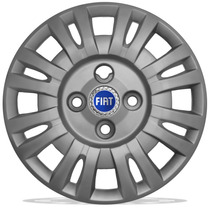 Jogo De Calotas Aro 13 Fiat Uno Fire 2004-2005 + Emblema A