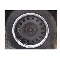 Sobre Aro Cromado Roda Corcel Belina Chevette Fiat 13 (4 Pcs