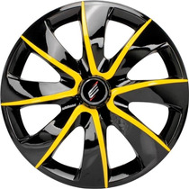 Calota Aro 13 Prime Black Yellow Universal Fiat/ford/gm/vw