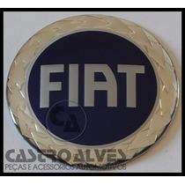 Emblema Adesivo Calota Miolo Tampa Roda Fiat Azul 58mm -1 Pç
