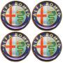 Jogo De Botons P/ Alfa Romeo Roda 4/pçs 68mm Dacar Parts