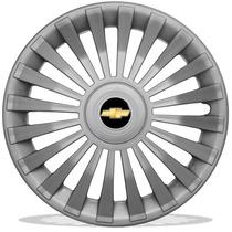 Jogo De Calotas Aro 13 Celta Corsa Prisma Classic + Emblema
