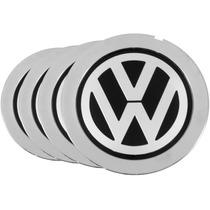 Jogo 4 Calota Para Centro De Roda Audi A8 Com Emblema Vw