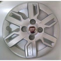 Calota Uno Way Palio Siena Aro 13 Fiat P534 Emblema Alumínio