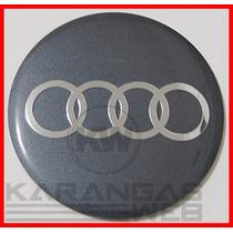 Emblema Adesivo Calota Miolo Tampa Roda Audi 51mm/5,1cm-1 Pç