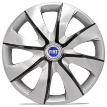 Jogo Calota 13 Prime Silver Graphite Fiat Palio Uno Siena A