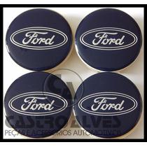 Jg Calota Calotinha Tampa Roda Esportiva Kr Ford 5,6cm 4 Pçs