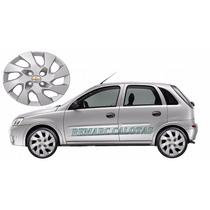 Jogo Calota Corsa Aro 14 Hatch E Sedan Emblema Gm Alumínio