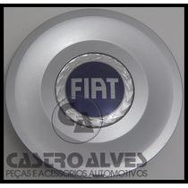 Calotinha Da Roda Fiat Stilo 2.4 / Idea Emblema Azul