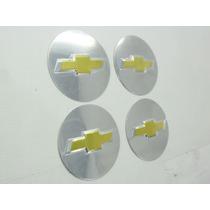 Kit 4 Emblema Metal Rodas Ou Calota Chevrolet
