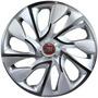 Jogo Calota Aro 14 Ds4 Silver Fiat Palio Uno Idea - 4 Pecas