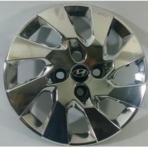 Calota Hb20 Aro 14 Cromada Emblema Alumínio Hyundai 133chr