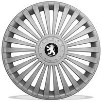 Jogo De Calotas Aro 14 Para Peugeot 206 207 Hoggar + Emblema