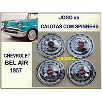 Calota Chevrolet Bel Air 57 150 210 Original Jogo C/spinners
