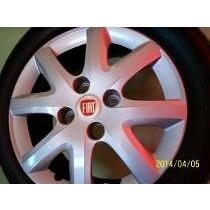 ( 04 )calotas Aro 14 P/ Siena 2013/14 ,palio +frete+emblemas